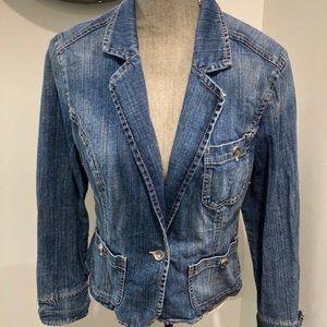 Vintage 90's Code Bleu Blue Jean Jacket